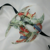 Masquerade mask, London, underground, fun party masks, nostalgic