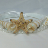 Shell tiara, mermaid crown, sea shell headdress, beach wedding