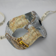 Music themed mask, masquerade masks, violin, saxaphone, musical