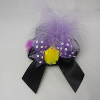 Easter hat, miniature black hat, Easter chicks