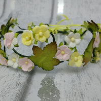 Flower crown, blossom hair wreath, bridal hair