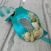Mermaid mask, shell masquerade mask, fancy dress masks