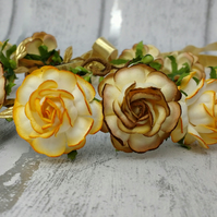 rose hair wreath, rose flower crown, flower girl garland