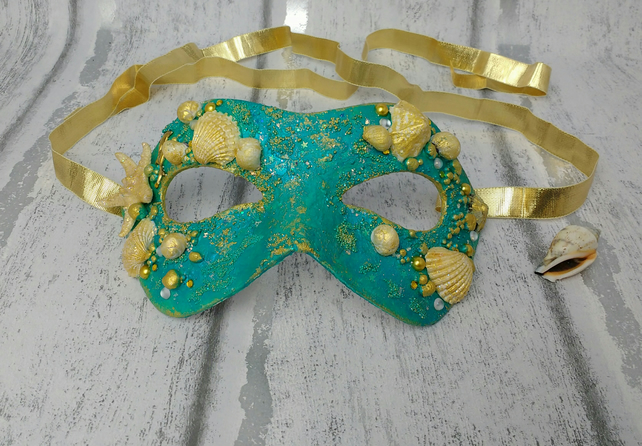 Mermaid mask, masquerade masks, mermaid costume