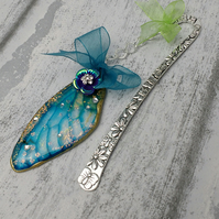 Blue winged bookmark, fairy bookmarks, fae gifts