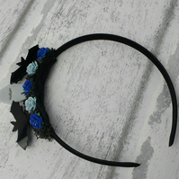 Bat hair accessories, Halloween Alice band, Goth gifts, Spooky hair