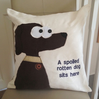 Dog Applique Cushion
