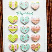 Engagement Card with hearts