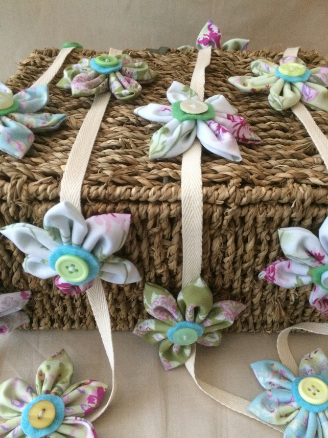 Fabric Flower Bunting
