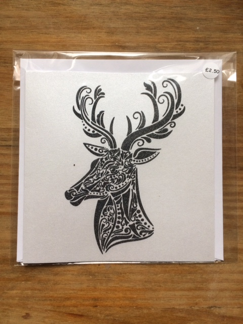 Stags Head Blank Card