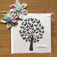 Butterfly Tree With Love Card