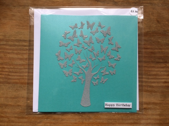 Butterfly Tree Happy Birthday Card