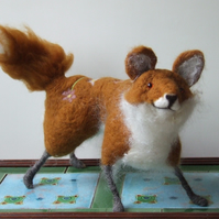 Needle-felt decorated Fox