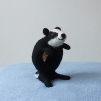 Needle-felt badger mirror