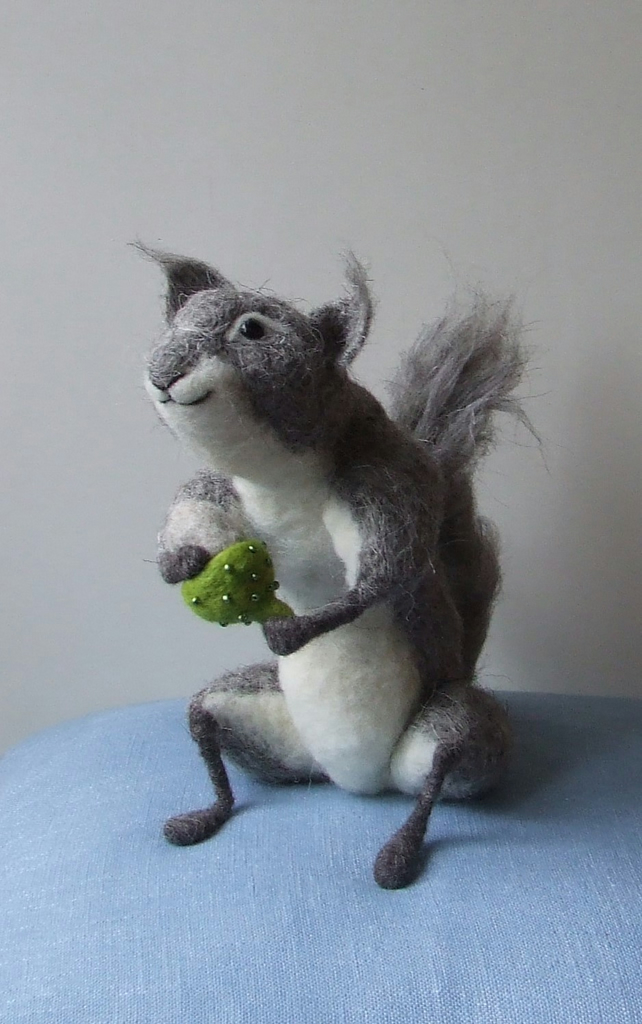 Large decorated felt squirrel