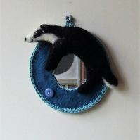 Felt badger mirror