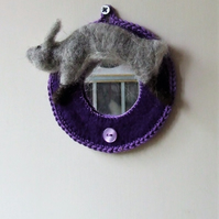 Felt rabbit mirror