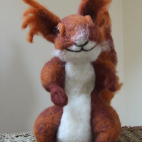 Needle-felt red squirrel