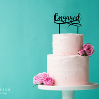 Engaged - acrylic cake topper