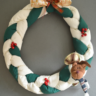 WAMC Classic Handmade Wreath. Traditional wreath in classic colours