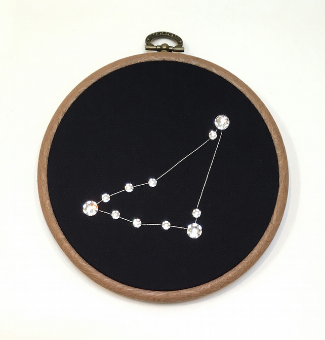 Constellation Wall Art - handmade with SWAROVSKI© Crystals - CAPRICORN