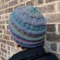 Hand Knitted Beanie Beret Hat in Four Sizes