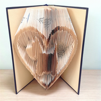 SCOTTIE DOG HEART - Book Folding Pattern - PDF Document