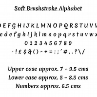BRUSHSTROKE ALPHABET - Book Folding Pattern - PDF Document
