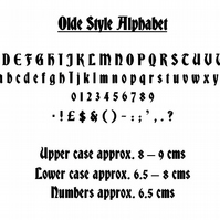 OLDE ALPHABET - Book Folding Pattern - PDF Document