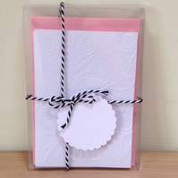 CLEAR GIFT BOX and TAG for Packs of 6 Embossed Cards