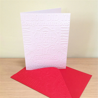 WELL DONE COLLAGE Pack of 6 Embossed Cards (No.10) - Blank Cards