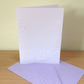 FLORAL SCROLL Pack of 6 Embossed Cards (No.98) - Blank Cards