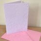 FLOWER FRENZY Pack of 6 Embossed Cards (No.99) - Blank Cards