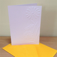 LARGE DAISIES Pack of 6 Embossed Cards (No.101) - Blank Cards