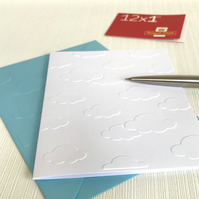 CLOUDS Pack of 6 Embossed Cards (No.53) - Blank Cards
