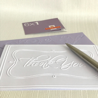 THANK YOU Pack of 6 Embossed Cards (No.28) - Blank Cards