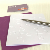 JIGSAW Pack of 6 Embossed Cards (No.8) - Blank Cards