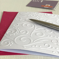 SCROLLS Pack of 6 Embossed Cards (No.134) - Blank Cards