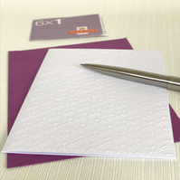 MINI FANS Pack of 6 Embossed Cards (No.133) - Blank Cards
