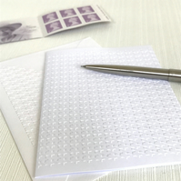 HOUNDSTOOTH Pack of 6 Embossed Cards (No.132) - Blank Cards