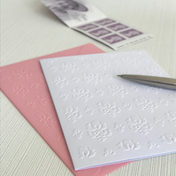 DAMASK Pack of 6 Embossed Cards (No.128) - Blank Cards
