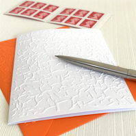 CRACKLED Pack of 6 Embossed Cards (No.126) - Blank Cards