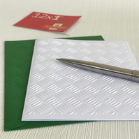 BASKET WEAVE Pack of 6 Embossed Cards (No.124) - Blank Cards
