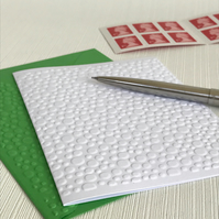 MINI BUBBLES Pack of 6 Embossed Cards (No.118) - Blank Cards