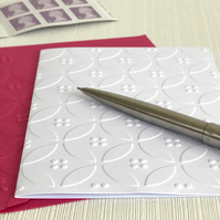 DOTS AND CIRCLES Pack of 6 Embossed Cards (No.116) - Blank Cards