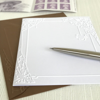 SPIDERS WEB Pack of 6 Embossed Cards (No.76) - Blank Cards