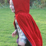 child's scarlet cloak cape (age 2-3)