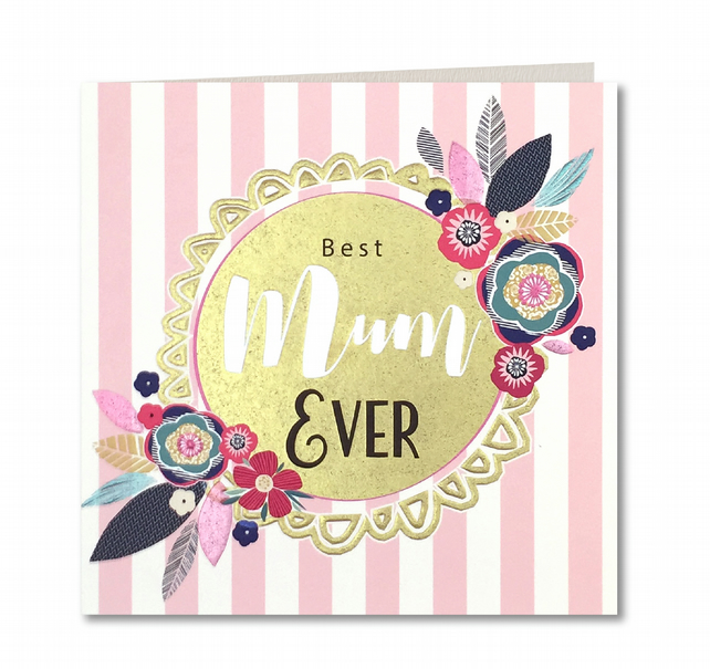 Contemporary Handmade Happy Mothers Day Card By Laura Darrington Design