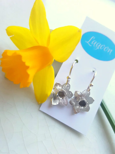 Daffodil Earrings made of Sterling Silver