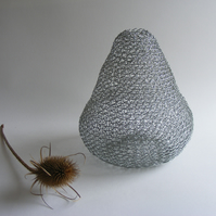 Pear shaped wire vessel